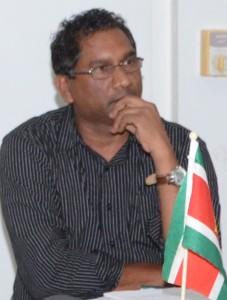SVB-penningmeester Bidjai Mankoe
